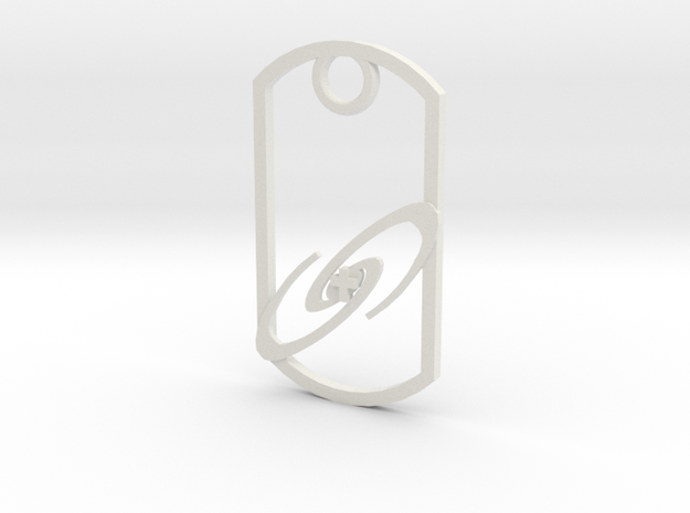 Galaxy with Cross key fob in White Natural Versatile Plastic