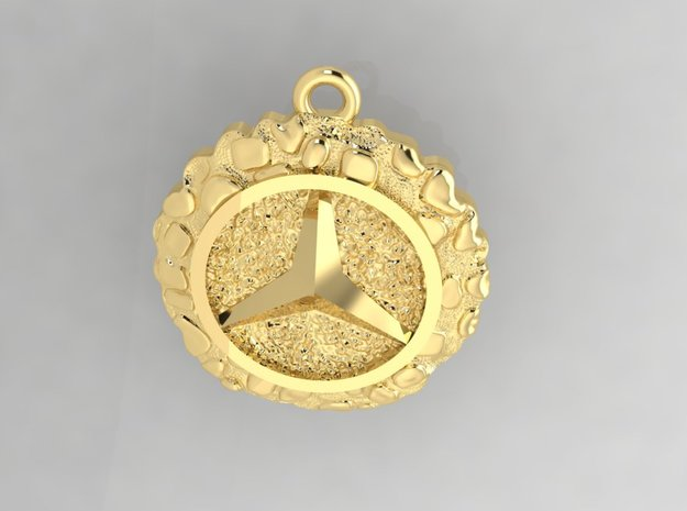 Mercedes Pendant. Write your own words on back. in 14K Yellow Gold