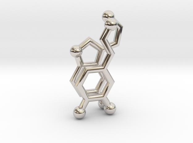 Serotonin + Dopamine Molecule Earrings in Platinum
