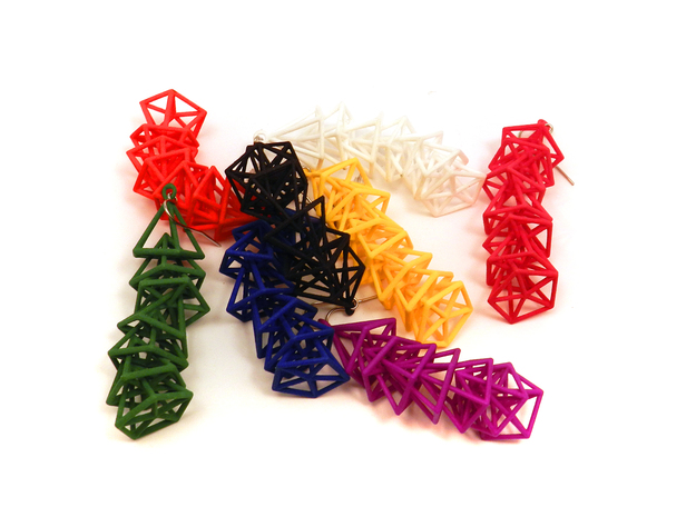 Pyramid Earrings 3d printed