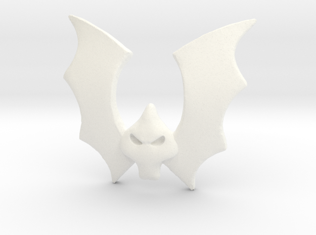 Horde Bat Emblem in White Processed Versatile Plastic