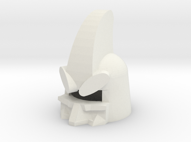 Robohelmet: Extinct Tyrant in White Natural Versatile Plastic
