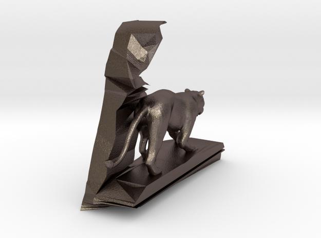 L--Löwin-neu in Polished Bronzed-Silver Steel