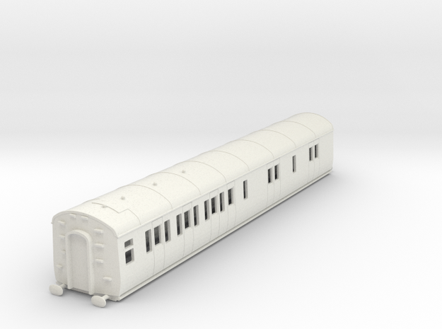 o-87-gwr-d94-lh-brake-3rd-coach in White Natural Versatile Plastic