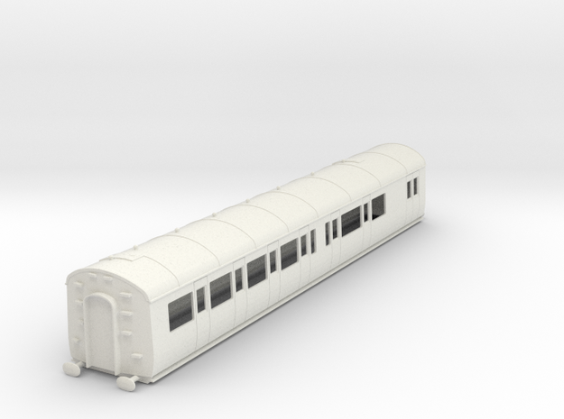 o-43-gwr-e128-rh-brake-comp-coach in White Natural Versatile Plastic