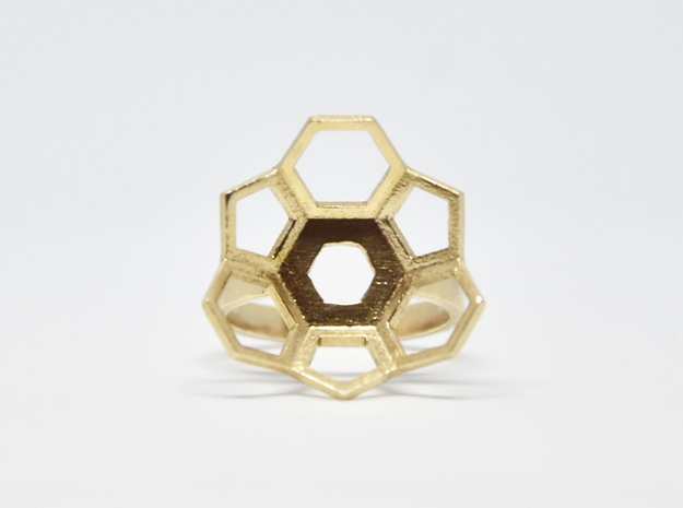 Geodesic Ring  in Natural Bronze: 5 / 49