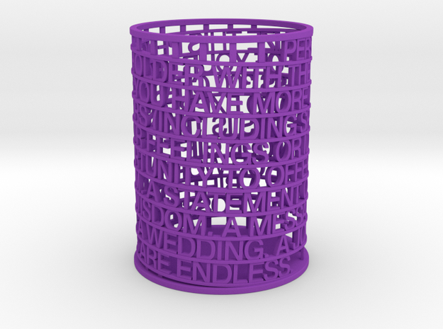 Personalized Pen Holder in Purple Processed Versatile Plastic