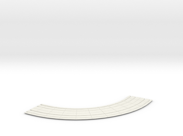 HO dbl street track curves 8 rad  in White Natural Versatile Plastic