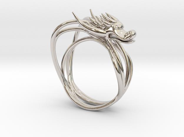 Dragon Nur Ring S-5(15.7mm) in Platinum