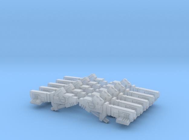 Tau Cyclic Ion Blasters - Sprue of 10  in Smooth Fine Detail Plastic