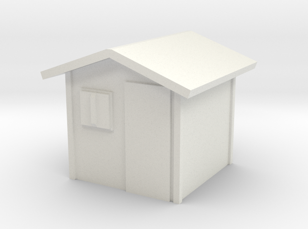 Garden Shed 1/100 in White Natural Versatile Plastic