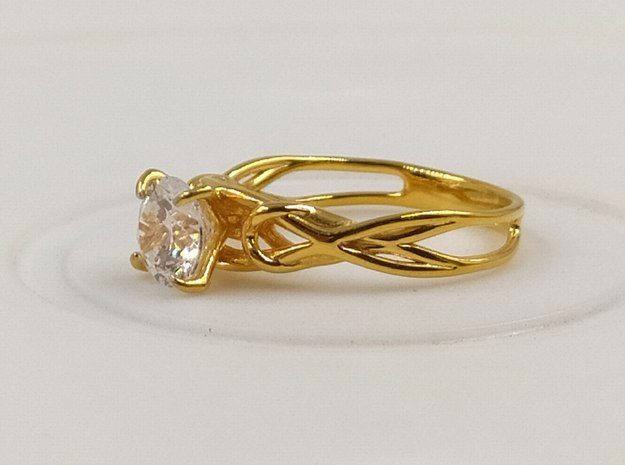 Lily - Wedding ring in 14K Yellow Gold