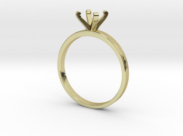 Plain Size 6 Ring - 6mm Gem - 4 prong v3 in 18k Gold