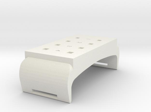 WristPiece in White Natural Versatile Plastic
