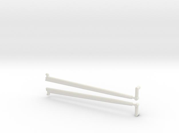 1/8 scale front Radius rod in White Natural Versatile Plastic