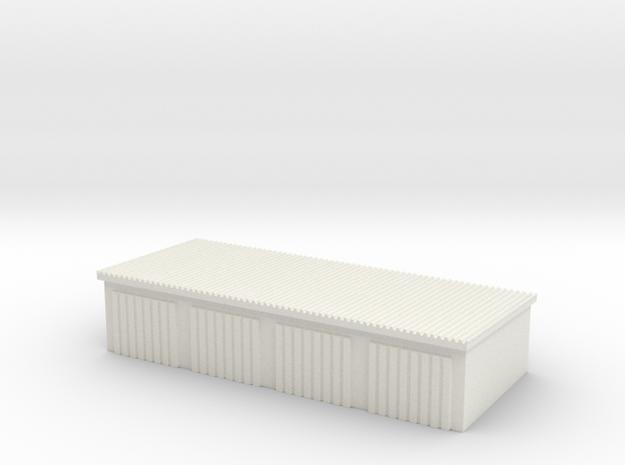 4 Slots Garage 1/120 in White Natural Versatile Plastic