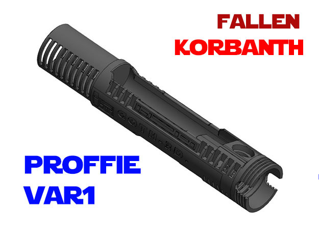 Korbanth - Fallen - Var1 - Proffie in White Natural Versatile Plastic