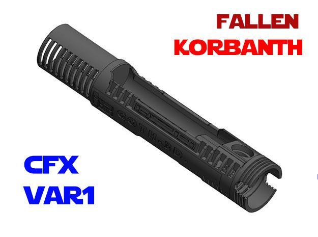 Korbanth - Fallen - Var1 - CFX in White Natural Versatile Plastic