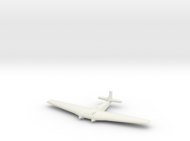 Ju-322 Mammut German Transport - 1/600- (Qty. 1) in White Natural Versatile Plastic