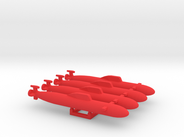 """""""Unknown"""" RED SUB MARKER set in Red Processed Versatile Plastic"""