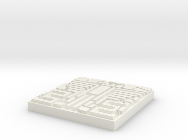 DungeonBrix Mayan Coatl Tile in White Natural Versatile Plastic