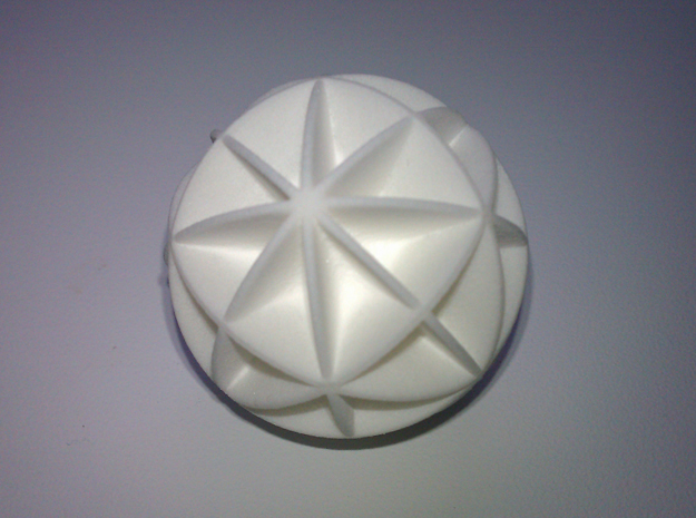 DRAW geo - sphere 48 cut outs in White Natural Versatile Plastic