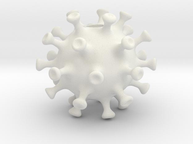 covid19bead in White Natural Versatile Plastic