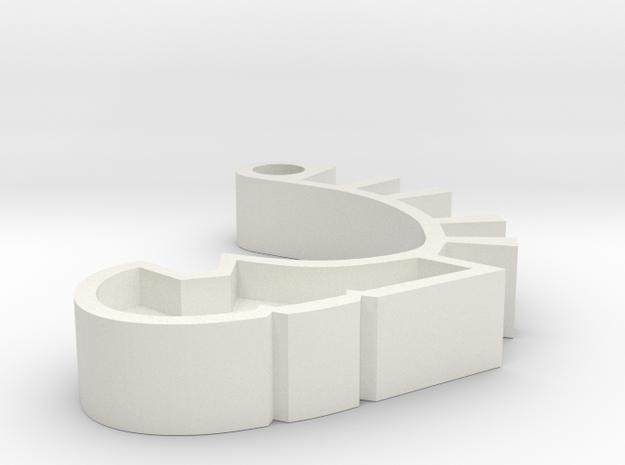 MNOG-style Matoran Arm in White Natural Versatile Plastic
