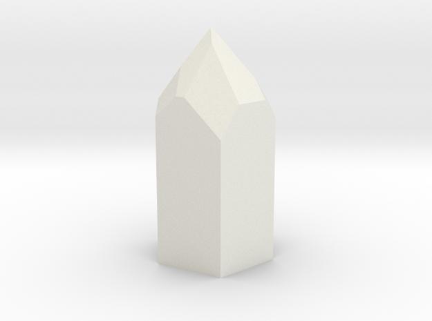 Pentagonal 3 in White Natural Versatile Plastic