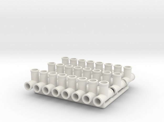 Plumbing Fitting 02.1:24 Scale  in White Natural Versatile Plastic