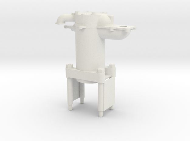 Cylinder Asy- Hicks Marine Engine in White Natural Versatile Plastic: 1:12