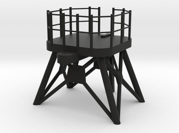 O.H. Perry Mast #1 above bridge in 1/96 scale in Black Premium Versatile Plastic
