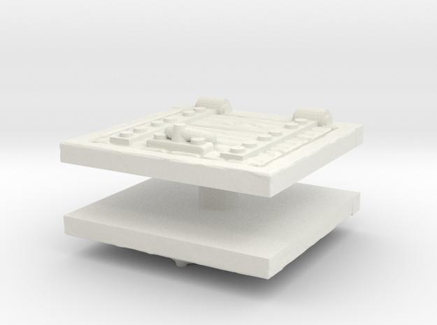 Wooden Trapdoor (x2) 1/64 in White Natural Versatile Plastic
