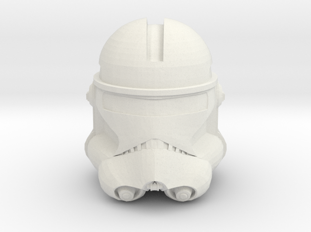Echo- Season 7 Helmet | CCBS Scale in White Natural Versatile Plastic