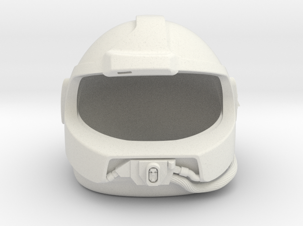 Airwolf Supercopter 3D Helmet 1/6 scale no visor in White Natural Versatile Plastic