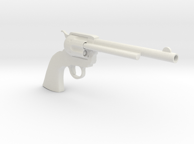 1/4th scale Colt Peacemaker in White Natural Versatile Plastic