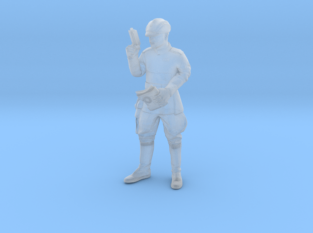 Clone Officer holding Macrobinoculars Legion Scale in Smooth Fine Detail Plastic