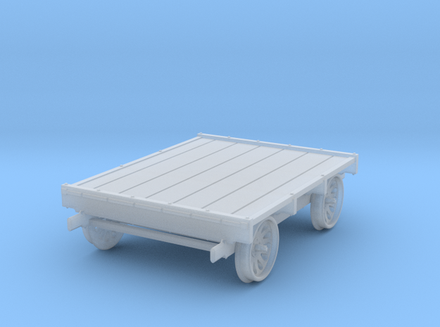 S Scale Sheffield No 4 Standard Gauge Pushcar in Smooth Fine Detail Plastic