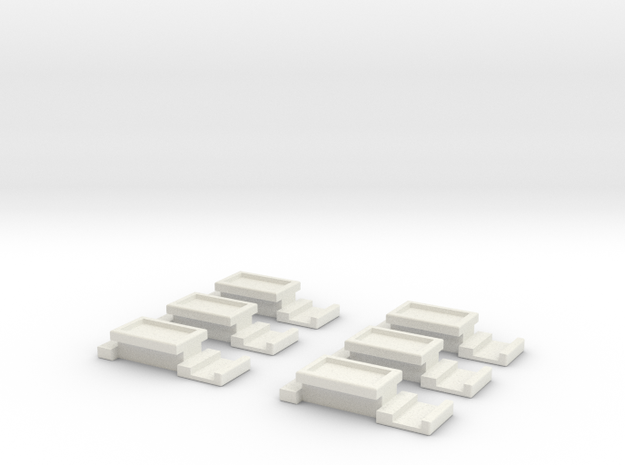 Battery Latch in White Natural Versatile Plastic