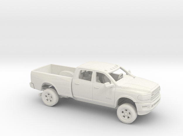 1/50 2020 Dodge Ram Crew Cab Regular Bed Kit in White Natural Versatile Plastic