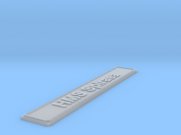 Nameplate HMS Spiraea in Smoothest Fine Detail Plastic