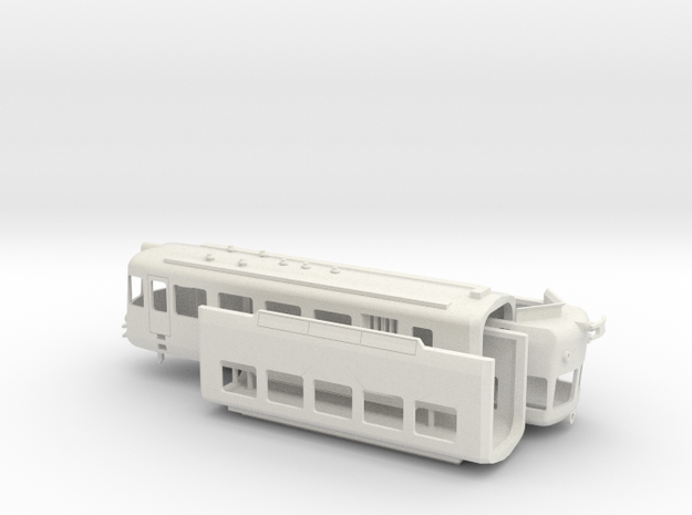 SSIF ABe8/8v in scala H0 in White Natural Versatile Plastic