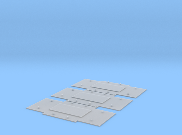 "Baseplates for Bedford axleguards, 9'3"" w/b in Smooth Fine Detail Plastic"