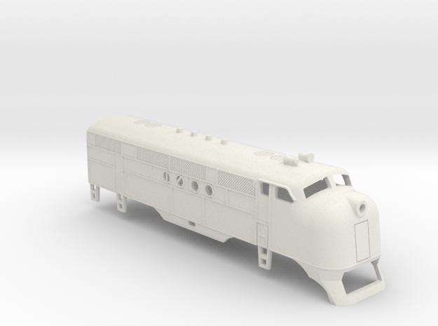 Z Scale EMC FT Locomotive Shell in White Natural Versatile Plastic