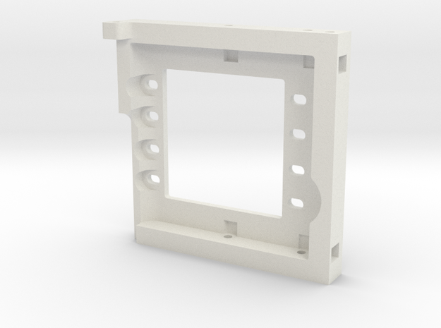 JBRC Dual Servo Plate for 50mm Brushless Motors in White Natural Versatile Plastic