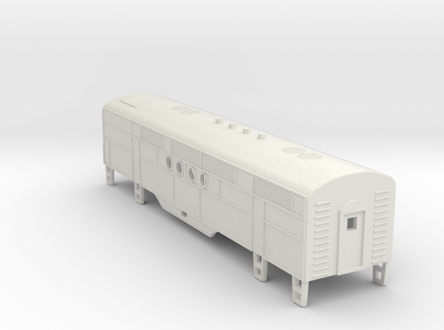 Z Scale EMC FT B-Unit Locomotive Shell in White Natural Versatile Plastic