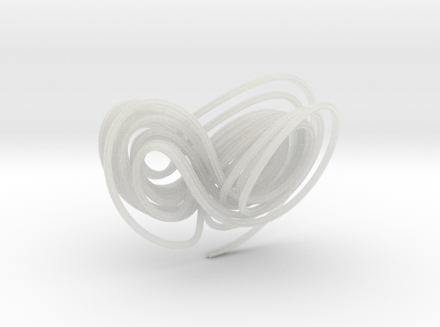 Hyperchaotic Jha Attractor 3d printed