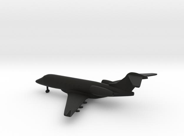 Bombardier Challenger 300 in Black Natural Versatile Plastic: 1:285 - 6mm