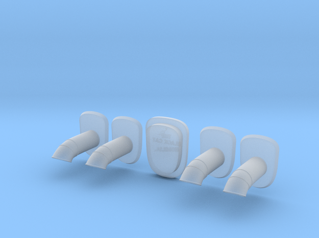 Seamless exhausts for C-130 1/48  + assembly jig in Smooth Fine Detail Plastic