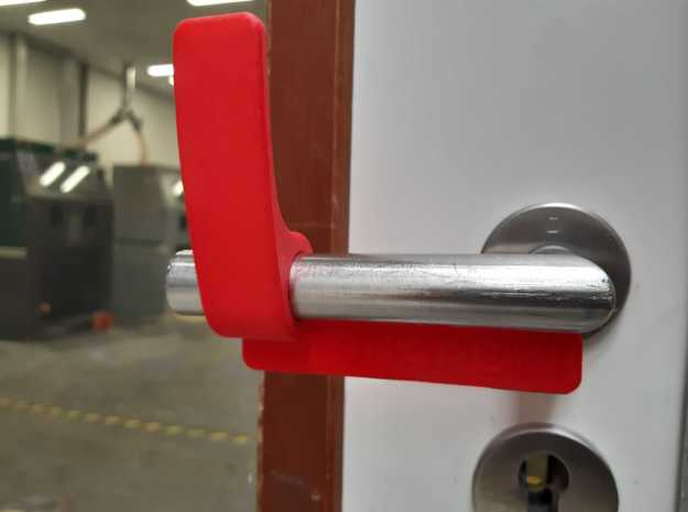 Touchless Door Opener (Left) by Shapeways in White Natural Versatile Plastic